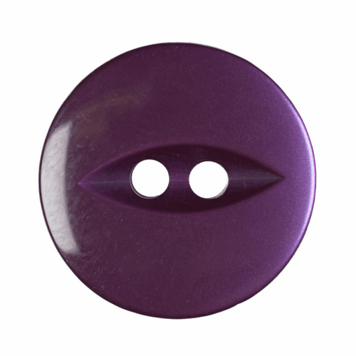 Purple Fish Eye Button - Available in 4 Sizes (Sold Individually)