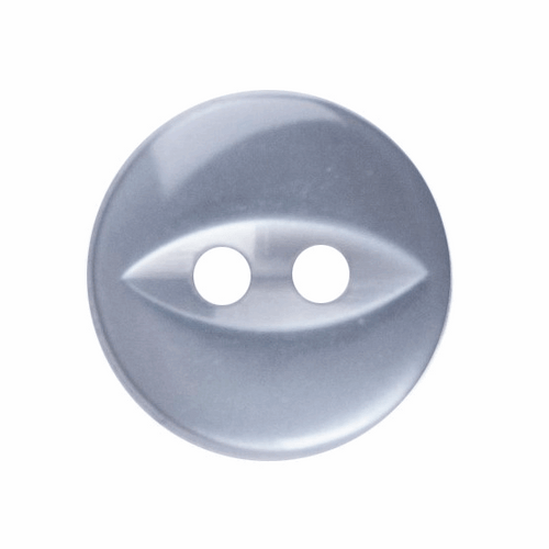 Grey Fish Eye Button - Available in 4 Sizes (Sold Individually)