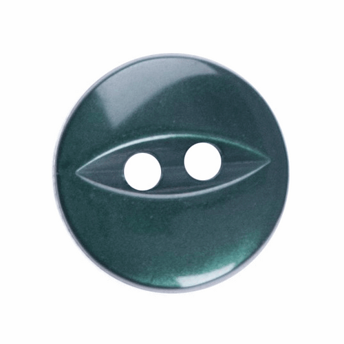 Dark Green Fish Eye Button - Available in 4 Sizes (Sold Individually)