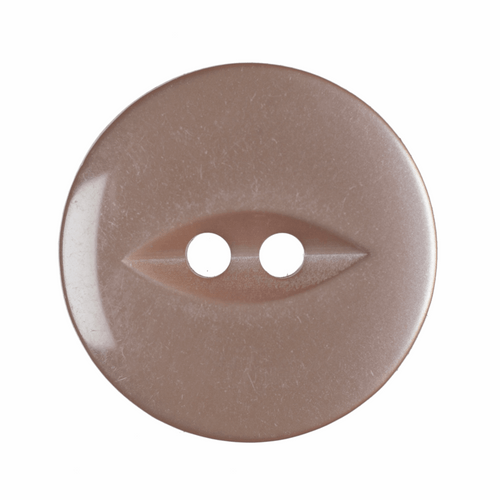 Beige Fish Eye Button - Available in 4 Sizes (Sold Individually)