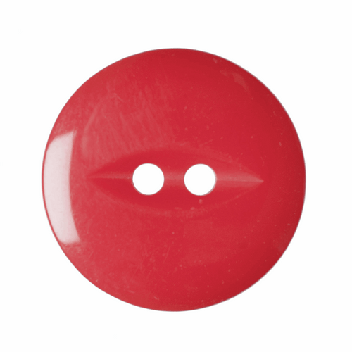 Solid Red Fish Eye Button - Available in 4 Sizes (Sold Individually)