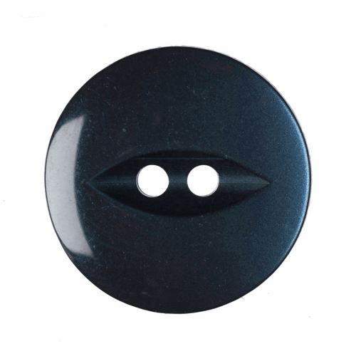 Navy Fish Eye Button - Available in 4 Sizes (Sold Individually)