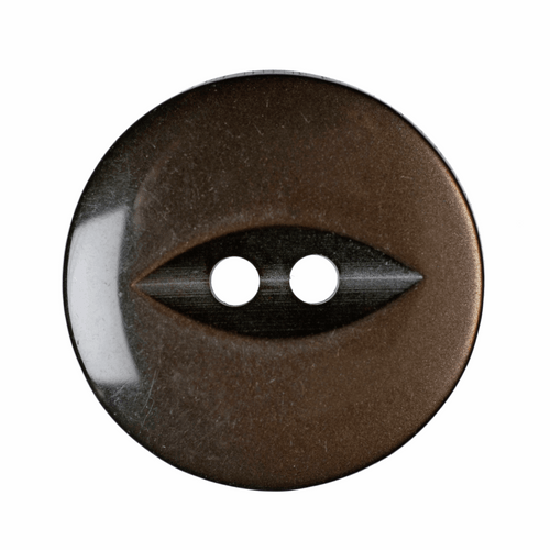 Brown Fish Eye Button - Available in 4 Sizes (Sold Individually)