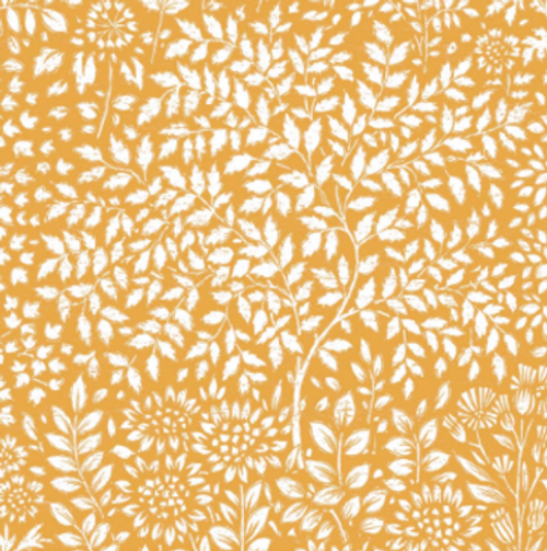 Countryside Gold Printed PVC Wipe-Clean Tablecloth Fabric, 140cm/55in wide, Sold Per HALF Metre