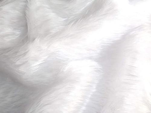 White Faux Fur Fabric, 152cm/60in wide, Sold Per HALF Metre