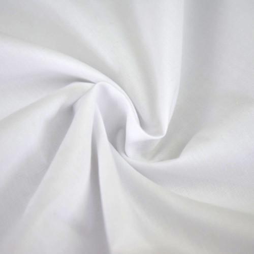 White Plain Poplin Polycotton Fabric, 115cm/45in wide, Sold Per HALF Metre