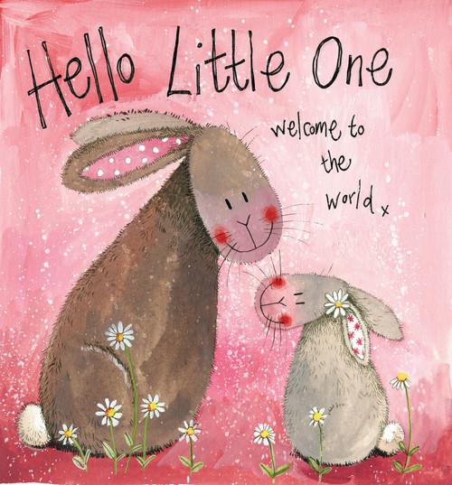 Little Girl Bunny new baby card