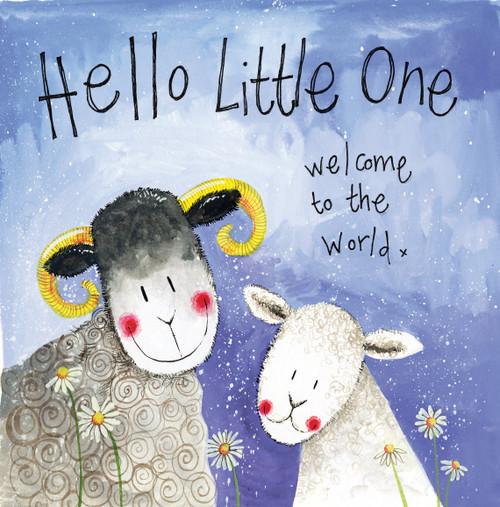 Little Boy Lamb New Baby Card