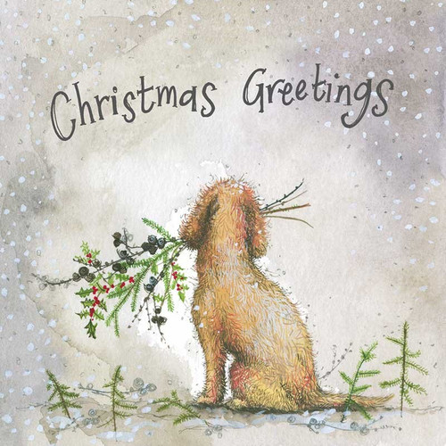 Dog and Larch Christmas Card Pack