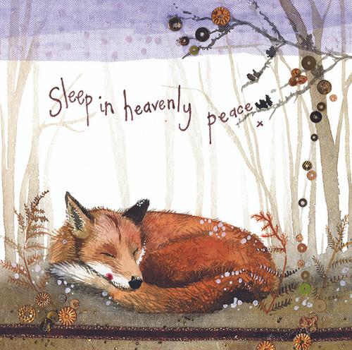 Heavenly Peace Fox Christmas Card
