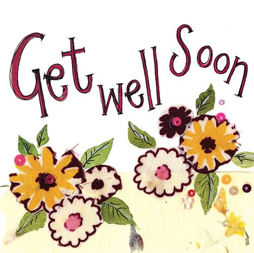 Yellow Flower Get well Card