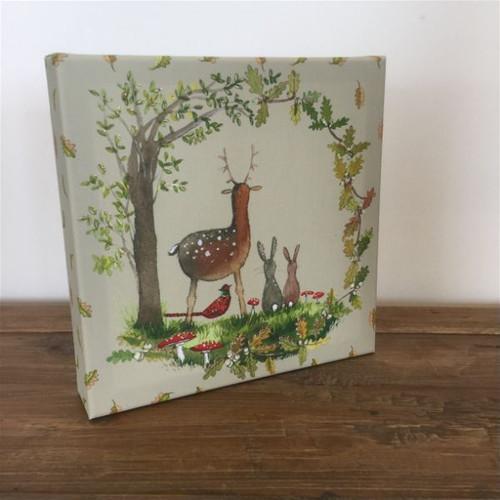 Woodland Animals Small Art Canvas