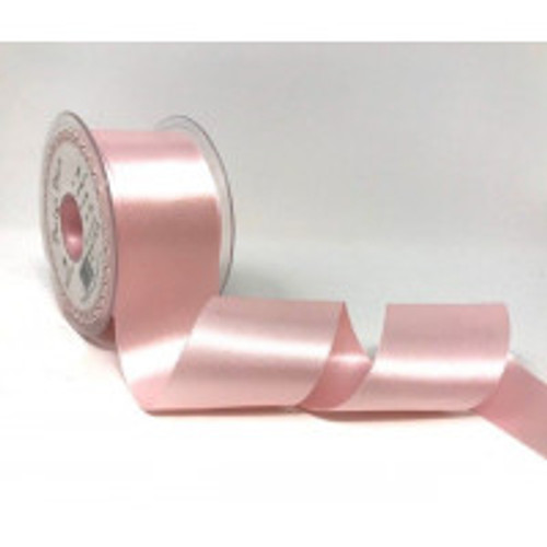 50mm 70 Pale Pink Double Satin Berisfords Ribbon ( Sold per Metre)