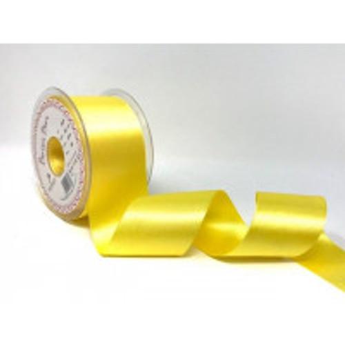 50mm 679 Yellow Double Satin Berisfords Ribbon ( Sold per Metre)