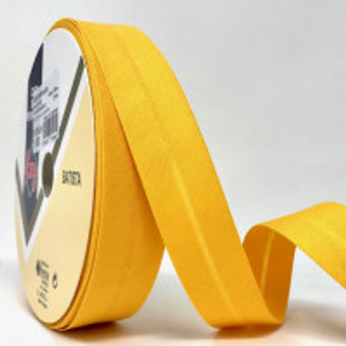 Mustard Plain Polycotton Bias Binding - 30mm wide, Sold Per Metre
