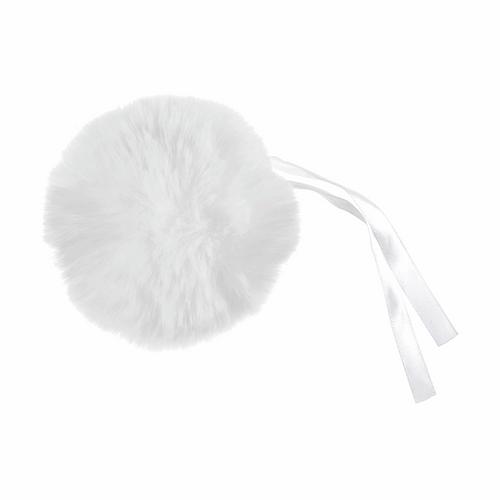Pom Pom Faux Fur Large  size (11cm) - White