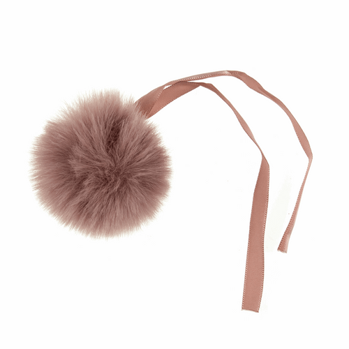 Pom Pom Faux Fur in Medium size (6cm) - Dusky Pink