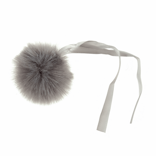 Pom Pom Faux Fur in Medium size (6cm) - Mink