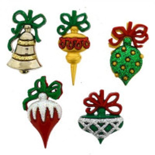 Christmas Ornaments Novelty Christmas Buttons by Dress It Up