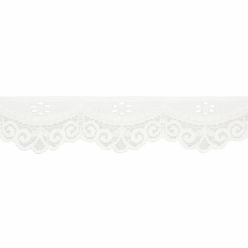 Ivory Lace Trim - Stretch, 35mm Width - Sold Per Metre