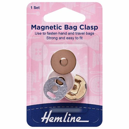 Magnetic Bag Clip (1 Set) - Gold