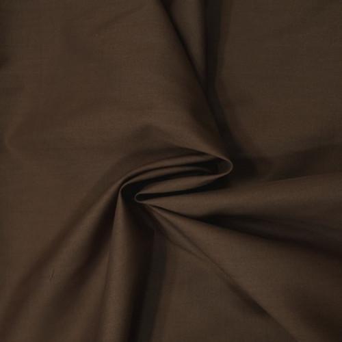 Brown Dress Polycotton Poplin Fabric - 44in wide , Sold Per Half Metre