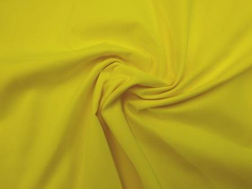 Yellow  Dress Polycotton Poplin Fabric - 44in wide , Sold Per Half Metre