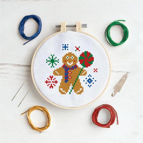 Cross Stitch Kit - Gingerbread Man