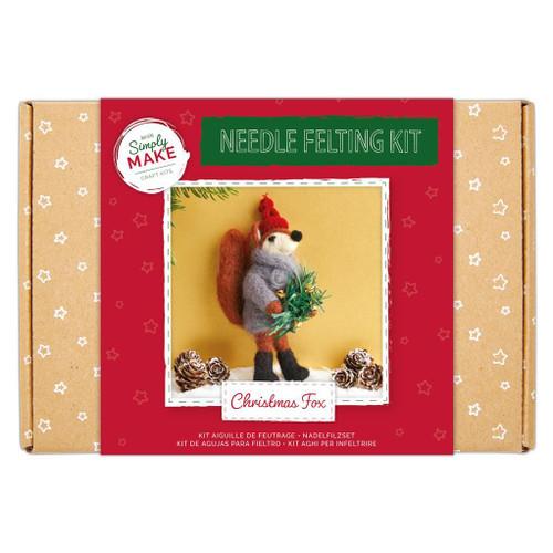 Needle Felting Kit - Christmas Fox