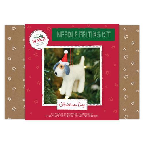 Needle felting Kit - Christmas Dog