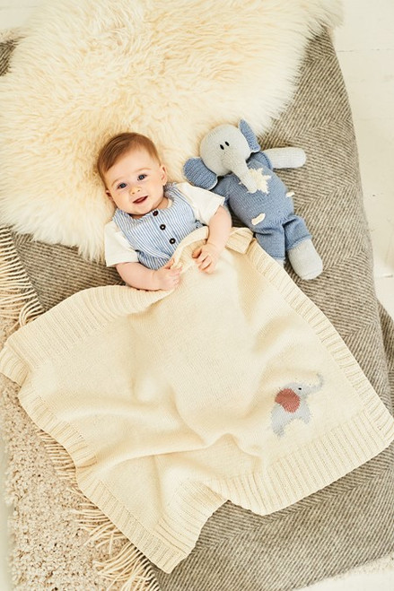 Adam and Astrid Elephant Toys & Blanket - One Size