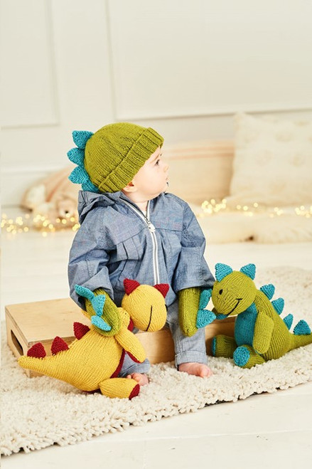 Danny the Dinosaur Toy with Hat & Mittens - 6 months to 5 years