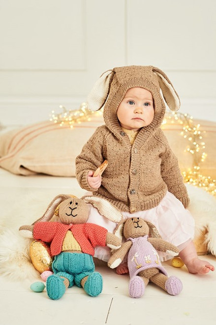 9855 - Bertie and Bettie Bunny Toys & Jacket - Birth to 7 Years
