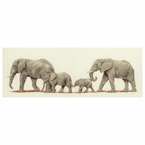 Cross Stitch Kit: Elephant Stroll
