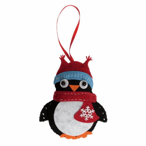 "penguin Felt Decoration Kit"""
