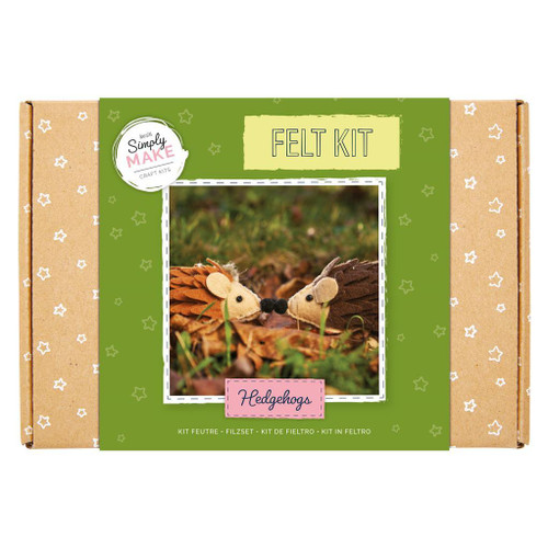 Simply Make - Felt Hedgehogs Kit