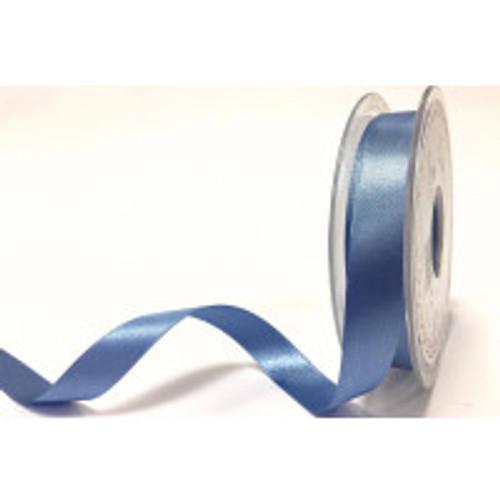 15mm 61 Dusky Blue Double Satin Berisfords Ribbon ( Sold per Metre)