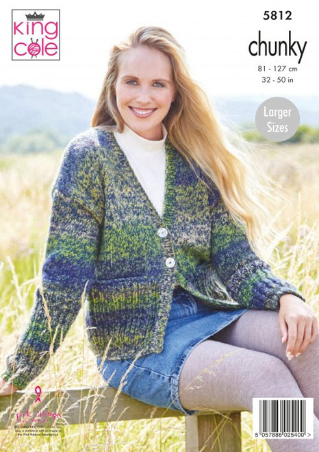 5812 - Ladies Cardigans: Knitted in Autumn Chunky