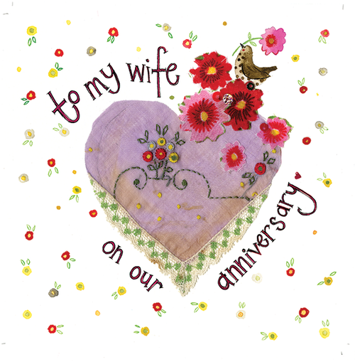 Wife Anniversary Sparkles Card