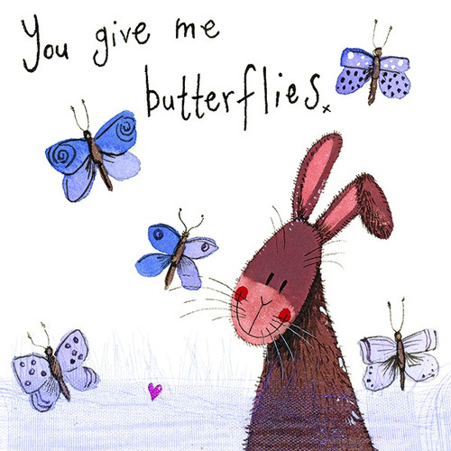 You Give Me Butterflies Bunny Little Sparkles Card