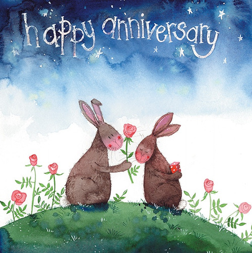 Anniversary Rabbits Card