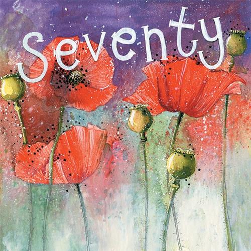 70 - Seventy 70th Birthday Card