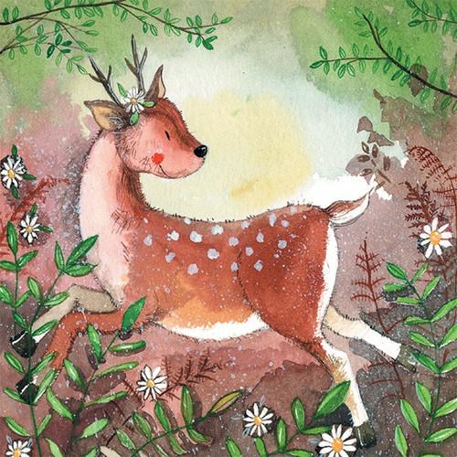 Forest Deer Blank Card