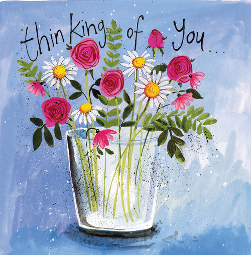 Vase of Flowers Thinking of You Card