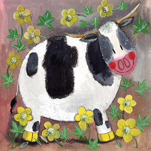 Buttercup Cow Blank Card