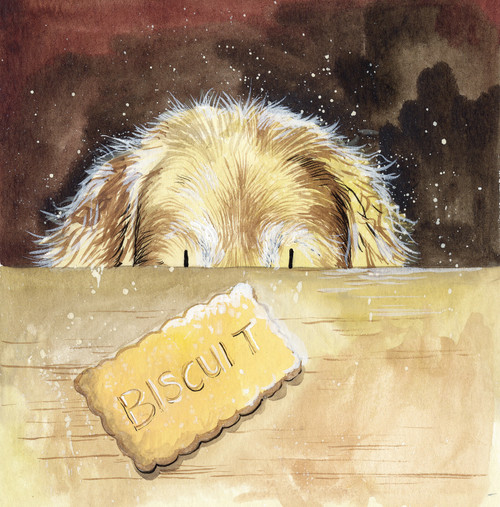 Biscuit Dog Blank Card