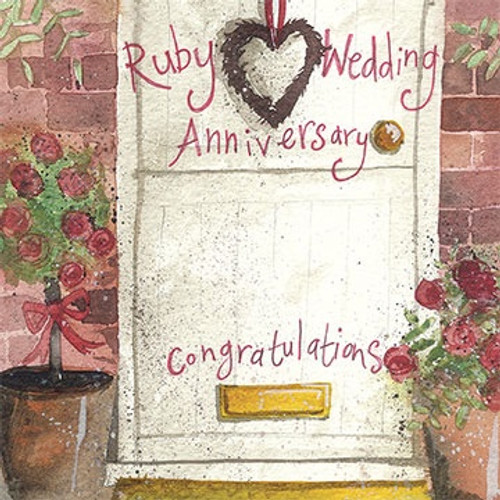 Ruby Door Anniversary Card