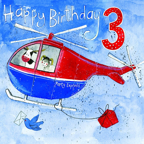 3 - 3rd Birthday Helicopter Heroes Birthday Card