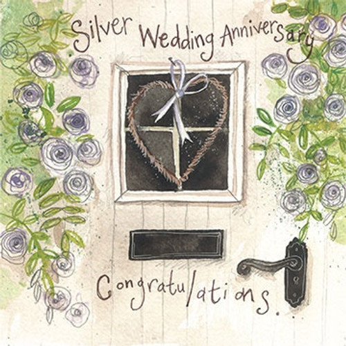 Silver Door Anniversary Card