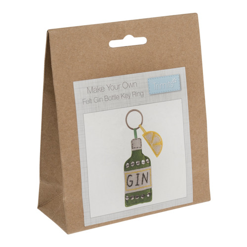 Gin Bottle Felt Decoration Kit